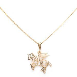 Collar unicornio oro